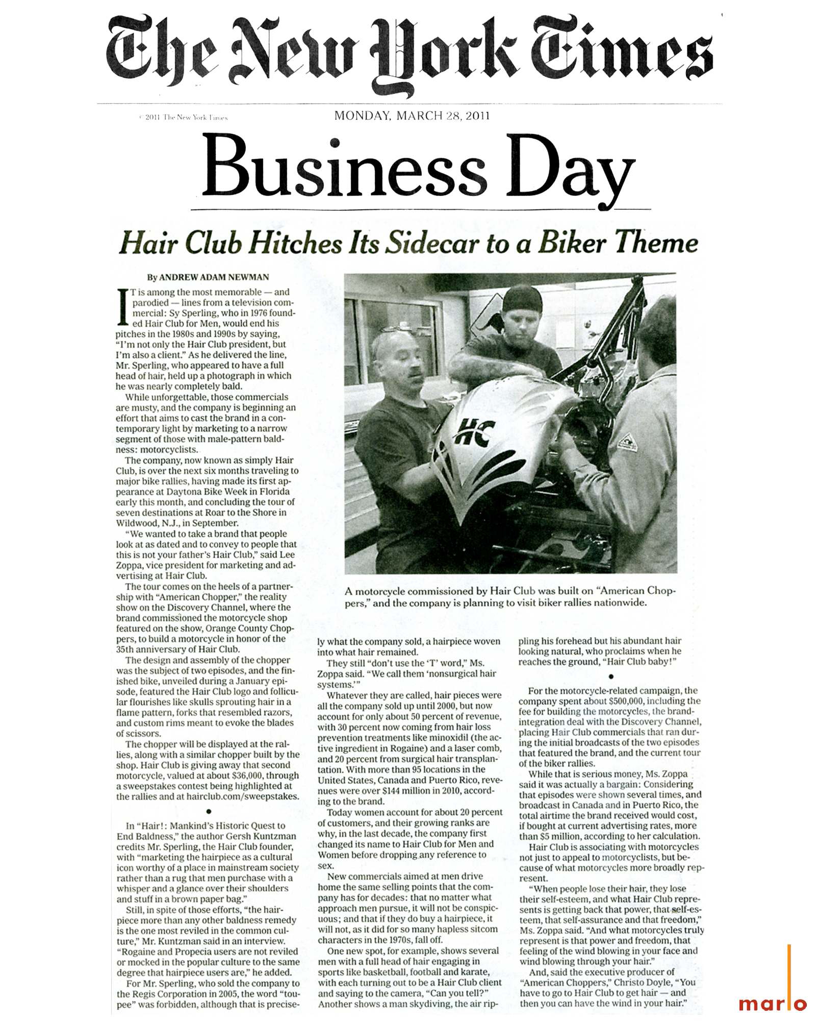 Hair Club / The New York Times | mm/c news